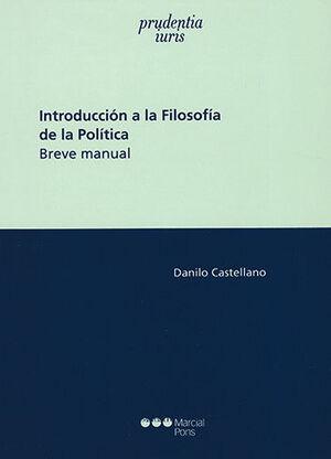 INTRODUCCIÓN A LA FILOSOFÍA DE LA POLÍTICA