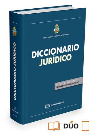 DICCIONARIO JURÍDICO DE LA REAL ACADEMIA DE JURISPRUDENCIA Y LEGISLACIÓN (PAPEL