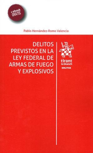 DELITOS PREVISTOS EN LA LEY FEDERAL DE ARMAS DE FUEGO Y EXPLOSIVOS