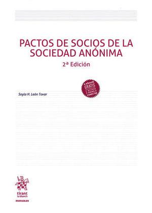 PACTOS DE SOCIOS DE LA SOCIEDAD ANÓNIMA. SEGUNDA EDICIÓN