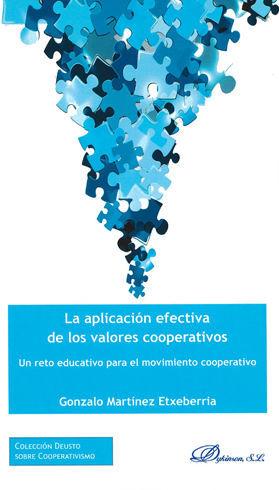 APLICACIÓN EFECTIVA DE LOS VALORES COOPERATIVOS, LA