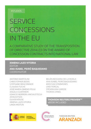 SERVICE CONCESSIONS IN THE EU (PAPEL + E-BOOK)