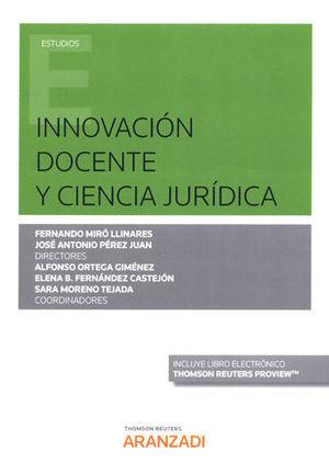 INNOVACIÓN DOCENTE Y CIENCIA JURÍDICA (PAPEL + E-BOOK)