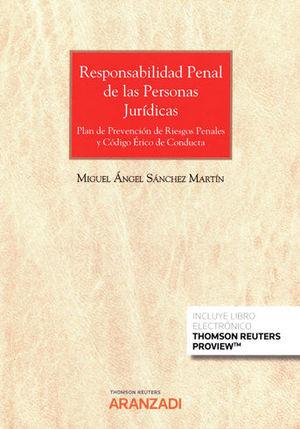 RESPONSABILIDAD PENAL DE LAS PERSONAS JURÍDICAS (PAPEL + E-BOOK)