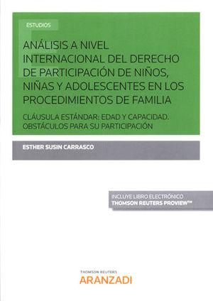 ANÁLISIS A NIVEL INTERNACIONAL DEL DERECHO DE PARTICIPACIÓN DE NIÑOS, NIÑAS Y AD