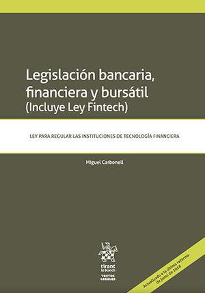 LEGISLACIÓN BANCARIA, FINANCIERA Y BURSÁTIL
