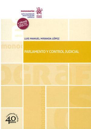 PARLAMENTO Y CONTROL JUDICIAL