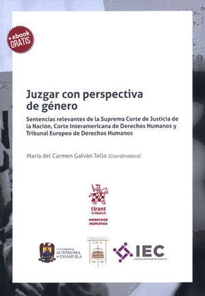 JUZGAR CON PERSPECTIVA DE GÉNERO