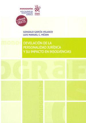 DEVELACIÓN DE LA PERSONALIDAD JURÍDICA Y SU IMPACTO EN INSOLVENCIAS