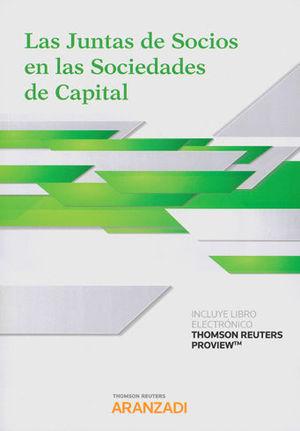JUNTAS DE SOCIOS EN LAS SOCIEDADES DE CAPITAL, LAS (PAPEL + E-BOOK)
