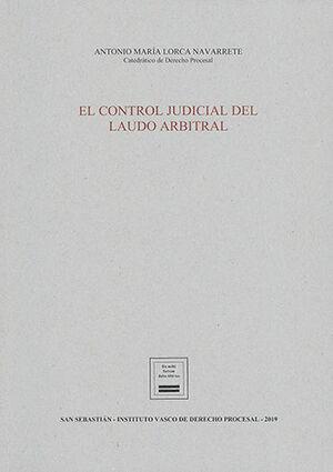 CONTROL JUDICIAL DEL LAUDO ARBITRAL