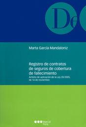 REGISTRO DE CONTRATOS DE SEGUROS DE COBERTURA DE FALLECIMIENTO