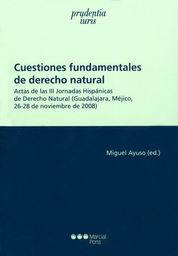 CUESTIONES FUNDAMENTALES DE DERECHO NATURAL