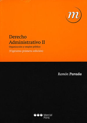 DERECHO ADMINISTRATIVO. TOMO II