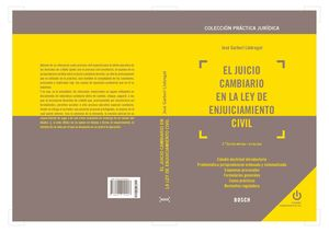 JUICIO CAMBIARIO EN LA LEY DE ENJUICIAMIENTO CIVIL (2.ª EDICIÓN), EL