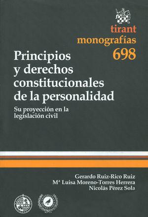 PRINCIPIOS Y DERECHOS CONSTITUCIONALES DE LA PERSONALIDAD