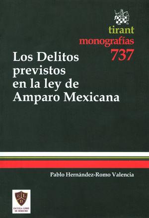 DELITOS PREVISTOS EN LA LEY DE AMPARO MEXICANA