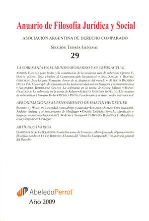 ANUARIO DE FILOSOFIA JURIDICA Y SOCIAL
