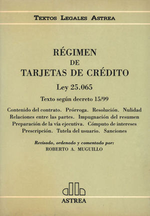 REGIMEN DE TARJETAS DE CREDITO