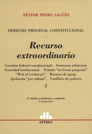 RECURSO EXTRAORDINARIO 2 TOMOS