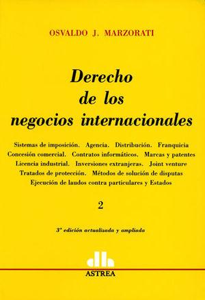 DERECHO DE LOS NEGOCIOS INTERNACIONALES 2 TOMOS