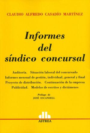 INFORMES DEL SINDICO CONCURSAL