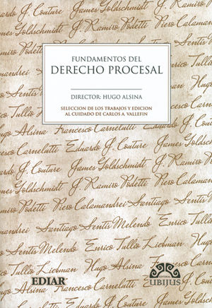 FUNDAMENTOS DEL DERECHO PROCESAL 3 TOMOS