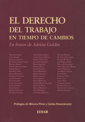 DERECHO DEL TRABAJO EN TIEMPO DE CAMBIOS, EL
