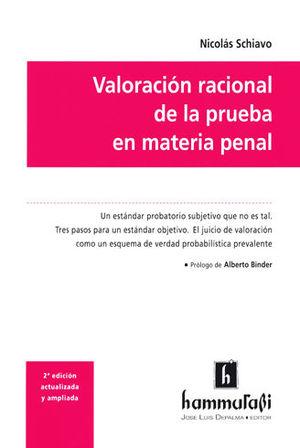 VALORACIÓN RACIONAL DE LA PRUEBA EN MATERIA PENAL