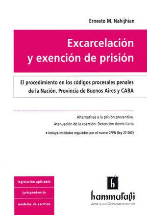 EXCARCELACIÓN Y EXENCIÓN DE PRISIÓN