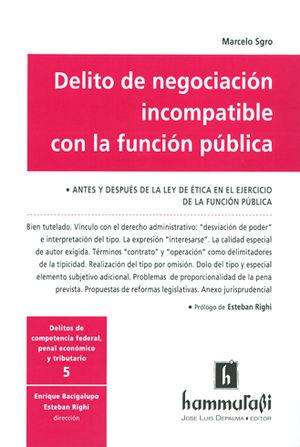 DELITO DE NEGOCIACIÓN INCOMPATIBLE CON LA FUNCIÓN PÚBLICA