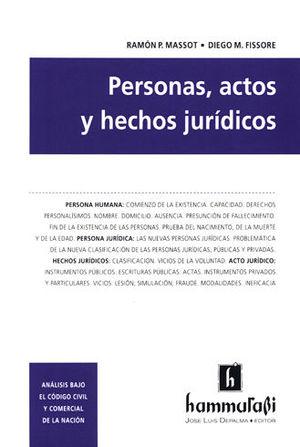 PERSONAS, ACTOS Y HECHOS JURÍDICOS