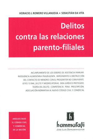 DELITOS CONTRA LAS RELACIONES PARENTO-FILIALES