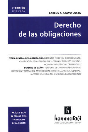 DERECHO DE LAS OBLIGACIONES