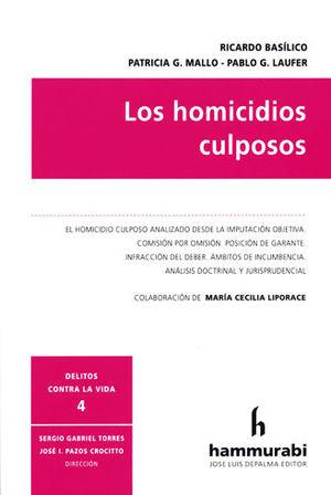 HOMICIDIOS CULPOSOS, LOS