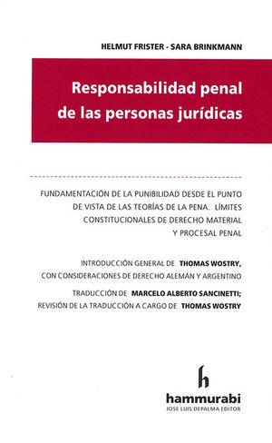 RESPONSABILIDAD PENAL DE LAS PERSONAS JURIDICAS