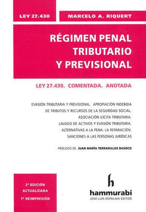 REGIMEN PENAL TRIBUTARIO Y PREVISIONAL