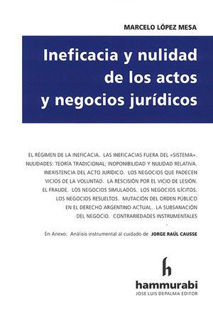 INEFICACIA Y NULIDAD DE LOS ACTOS Y NEGOCIOS JURIDICOS