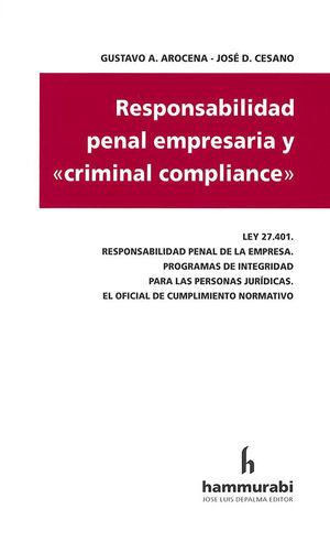RESPONSABILIDAD PENAL EMPRESARIA Y CRIMINAL COMPLIANCE