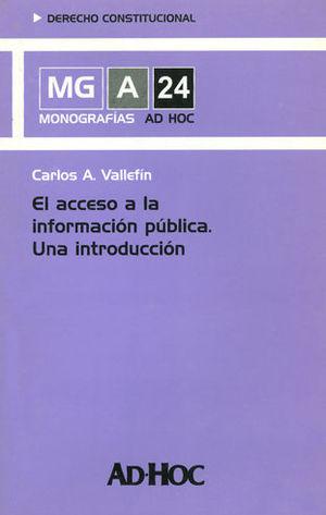 ACCESO A LA INFORMACIÓN PÚBLICA. EL