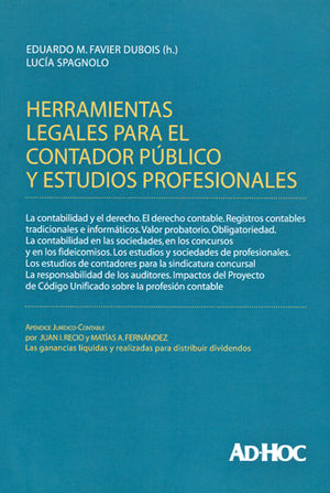 HERRAMIENTAS LEGALES PARA EL CONTADOR PÚBLICO Y ESTUDIOS PROFESIONALES