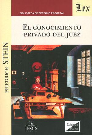 CONOCIMIENTO PRIVADO DEL JUEZ, EL