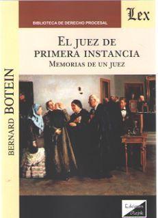 JUEZ DE PRIMERA INSTANCIA, EL