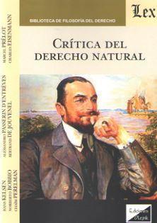 CRITICA DEL DERECHO NATURAL