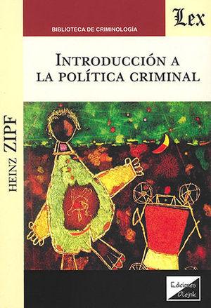 INTRODUCCION A LA POLITICA CRIMINAL