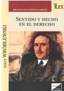 SENTIDO Y HECHO EN EL DERECHO
