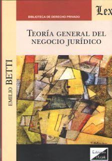 TEORÍA GENERAL DEL NEGOCIO JURÍDICO