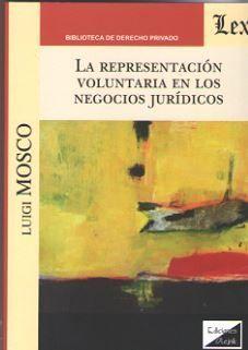 REPRESENTACIÓN VOLUNTARIA EN LOS NEGOCIOS JURIDICOS, LA