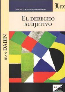 DERECHO SUBJETIVO, EL