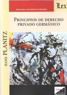 PRINCIPIOS DE DERECHO PRIVADO GERMÁNICO